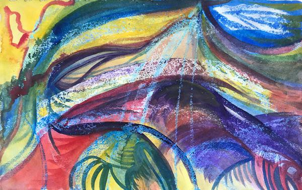 Hurricane Sandy 1, Watercolor Art | Artist Rachel Goldsmith, LLC