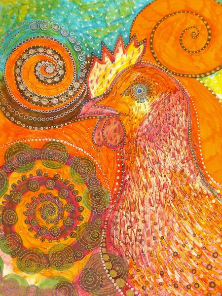 Rooster Art   Cynthia Christensen Art