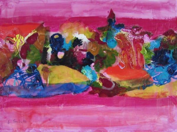Abstract In Pink 1 Art | Linda Sacketti
