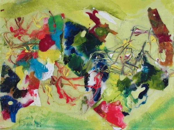 Abstract In Yellow 3 Art   Linda Sacketti
