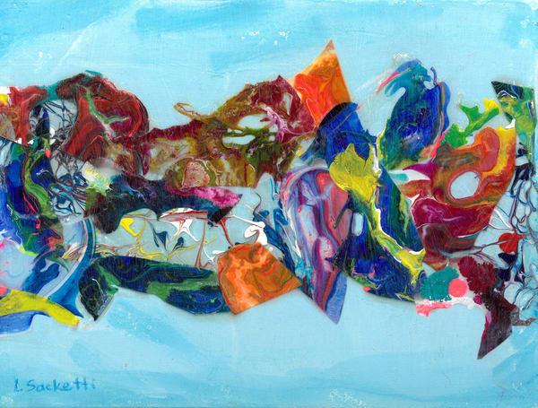 Abstract In Blue 3 Art | Linda Sacketti