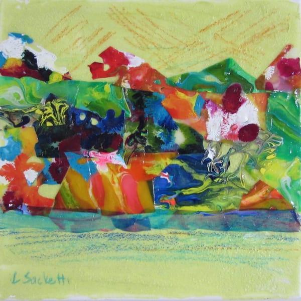 Abstract In Yellow 4 Art | Linda Sacketti