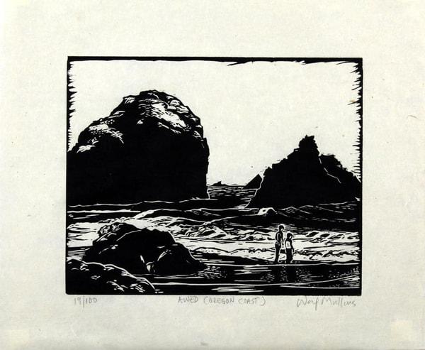 Awed, (Oregon Coast) Art | Waif Mullins Art