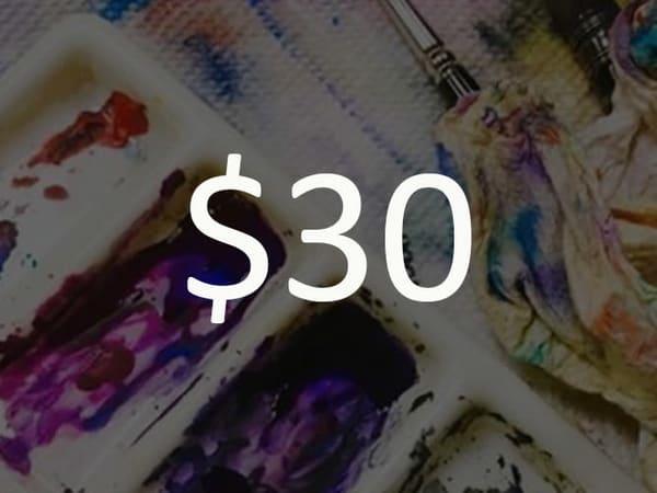 $30 Gift Card   Steven Dragan Fine Art