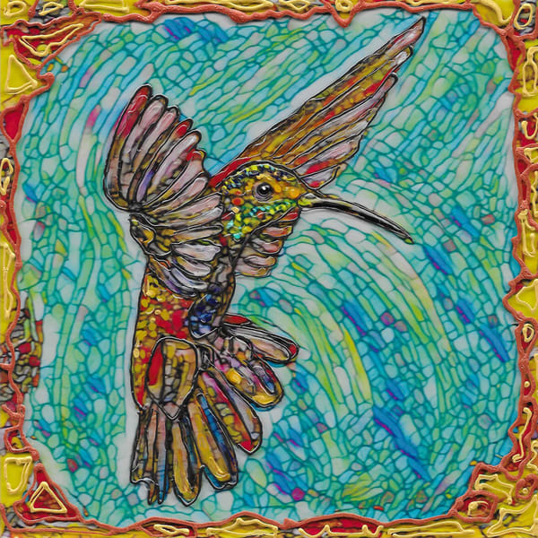 Flying Hummer 2 Art | Channe Felton Fine Art