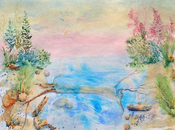 Lakeside Driftwood Art | Color Splash Ranch