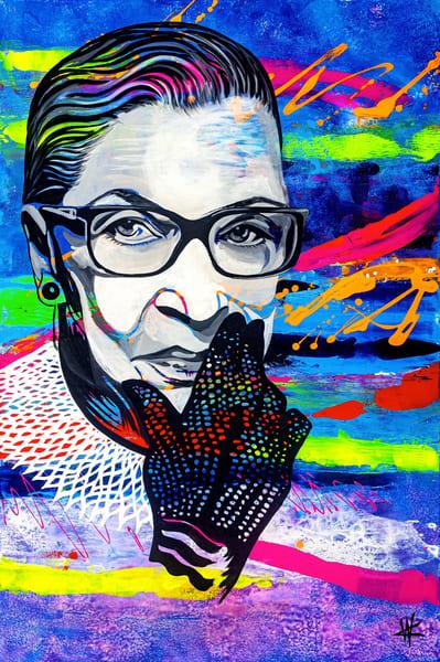 Ruth Bader Ginsburg Art | Cortney Wall Fine Art