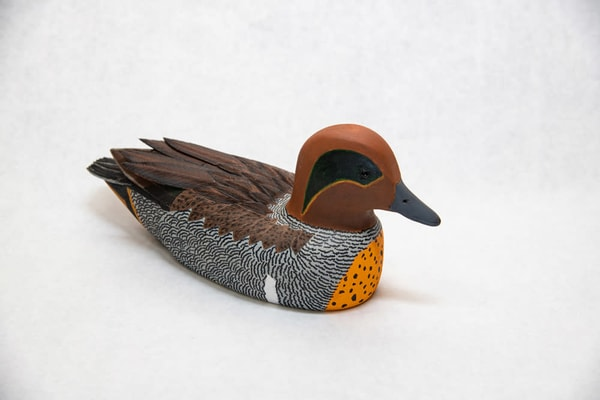 Hand Carved Green Winged Teal | http://www.mooseprintsgallery.com