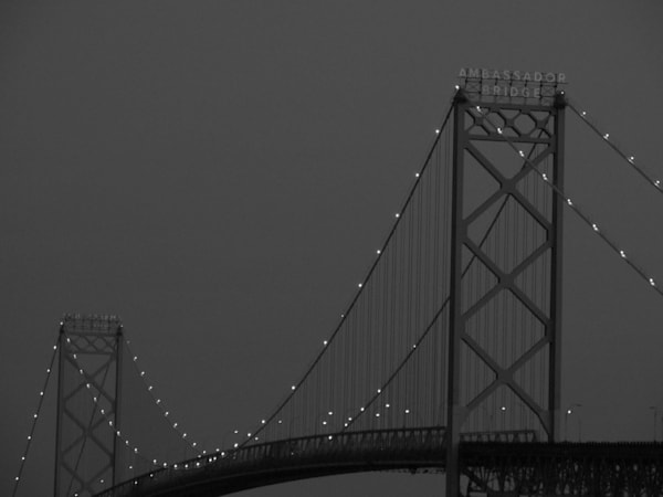 Ambassador Bridge April 2018 Art | Lillith