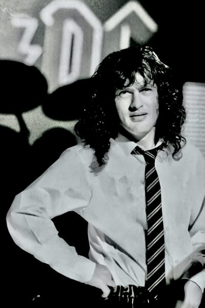 Angus Young of AC/DC Thunderstruck video
