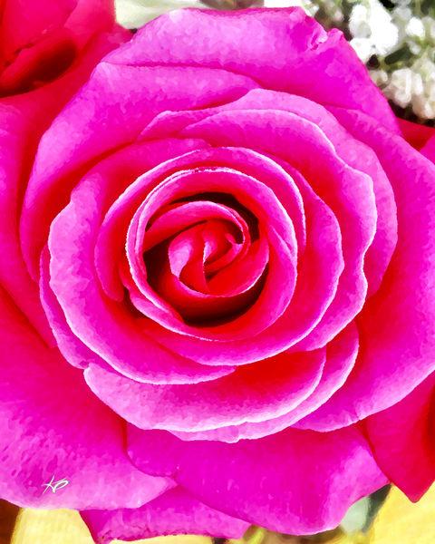 La Vie en Rose Portrait artwork by artist Karlana Pedersen