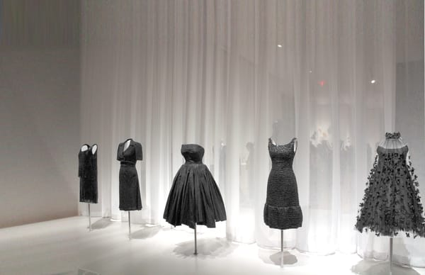 dresses mannequins black exhibit musem