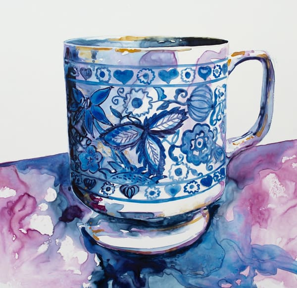 Blue Cup Art | Karen Bishop Artist