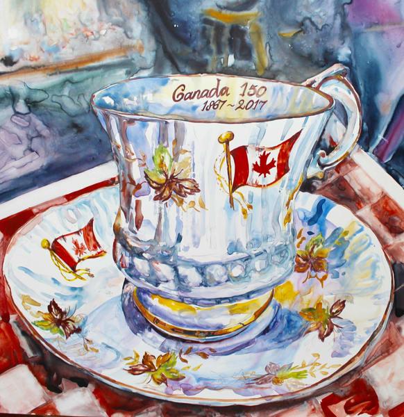 Canada 150 Tea Art | Karen Bishop Artist