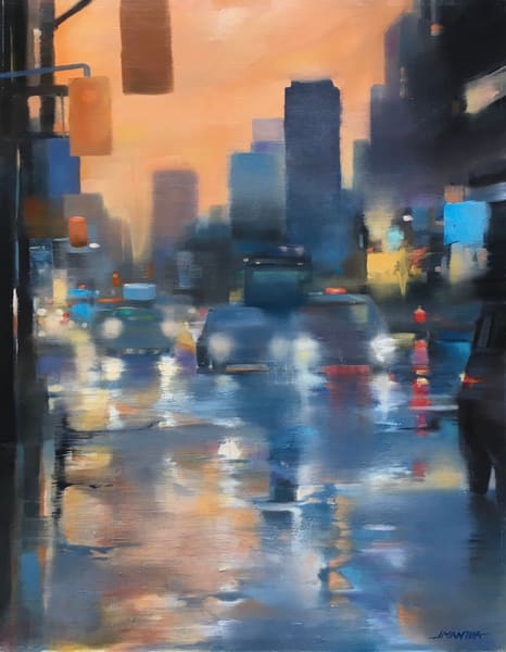 Rainy November Lights Art | MANTHA DESIGN