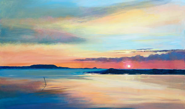 Coastal Sunset Art Print/Denise Di Battista