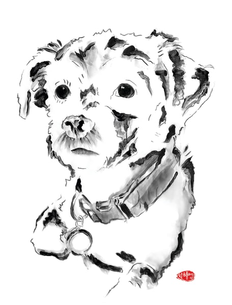 Martini: Terrier Mix Art | Youngi-Sumistyle pets