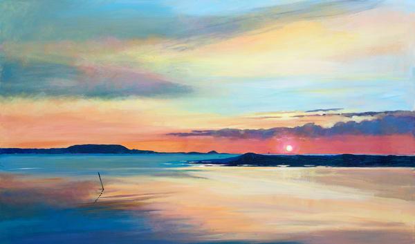 Original coastal acrylic/Denise Di Battista