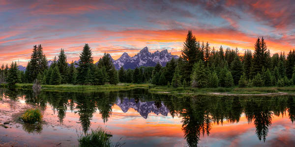 3701 Teton Sunset  Art | Cunningham Gallery