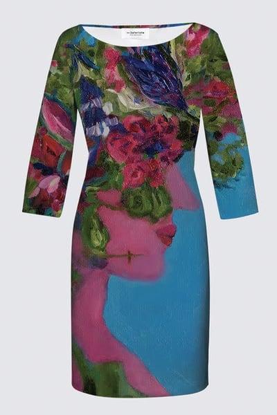 Floral Gaia JEANNE DRESS designed by artist