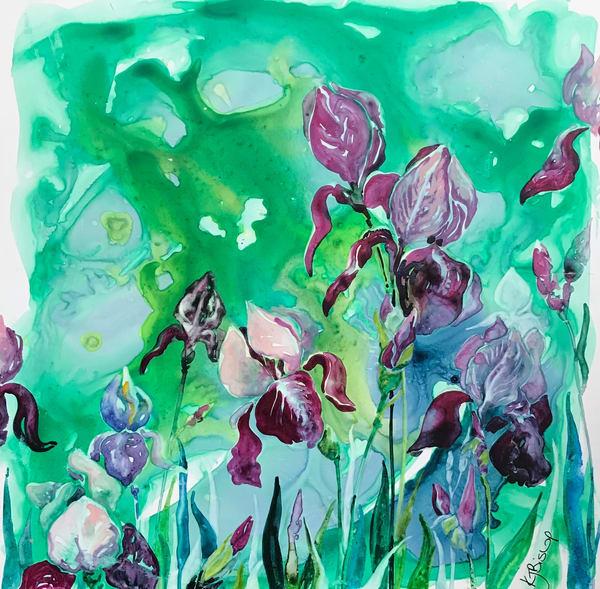 Irises Art | Karen Bishop Artist
