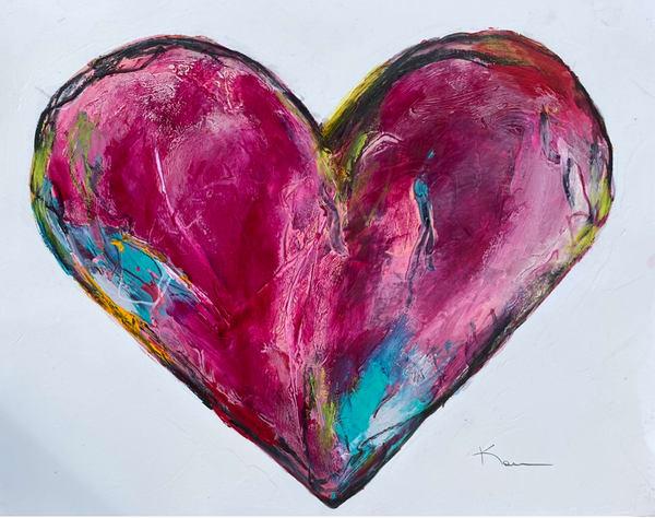 Grateful Heart (On Paper) Art | kellymerkurart