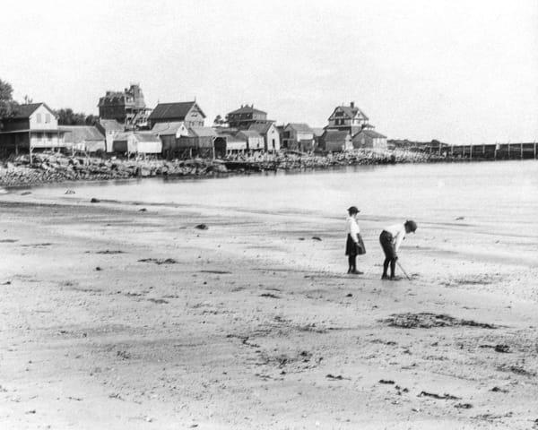 Magnolia Beach With Boys 2 Art   capeanngiclee