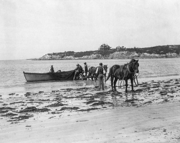 Hauling Out Nets Magnolia Beach 1889 Art   capeanngiclee