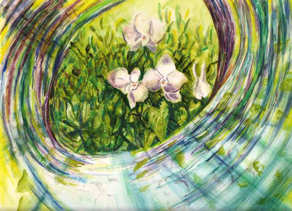 Orchid Swirl, Original Art | mariselabracho