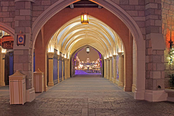 Cinderella's Castle Tunnel To Main Street Photography Art | William Drew Photography