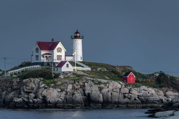 Nubble Lighthouse nearing night