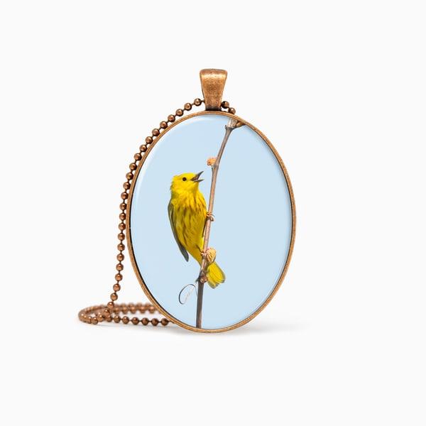 Yellow Warbler 7   Pendant | Deb Little Photography