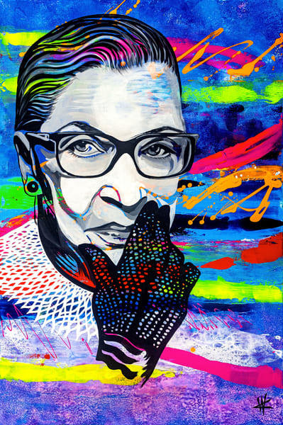 Ruth Bader Ginsburg. Limited Edition | Cortney Wall Fine Art