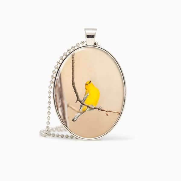 Prothonotary Warbler 3   Pendant | Deb Little Photography