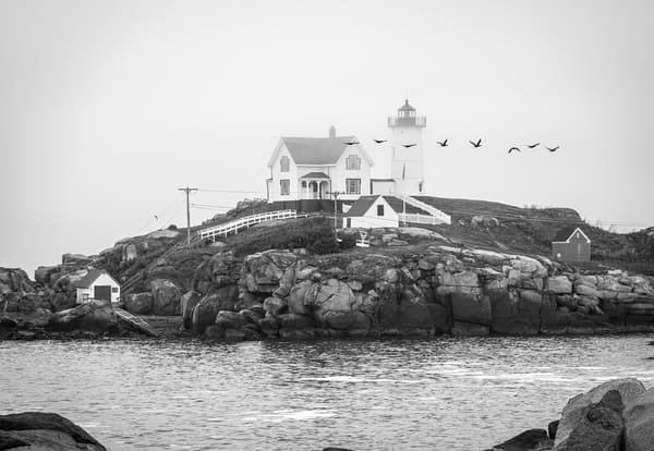 Foggy Nubble Lighthouse