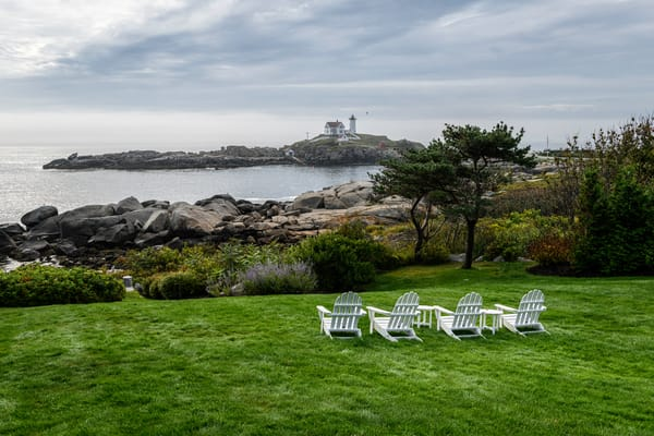 Relaxing at Nubble Lighthouse