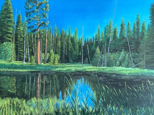Lily Pond Ponderosa State Park *Sold*  Art   Dave Fox Studios
