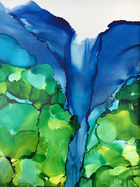 Waterfall Elephant Art | Sandy Smith Gerding Artwork