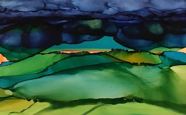 Horizon In Coral Art | Sandy Smith Gerding Artwork