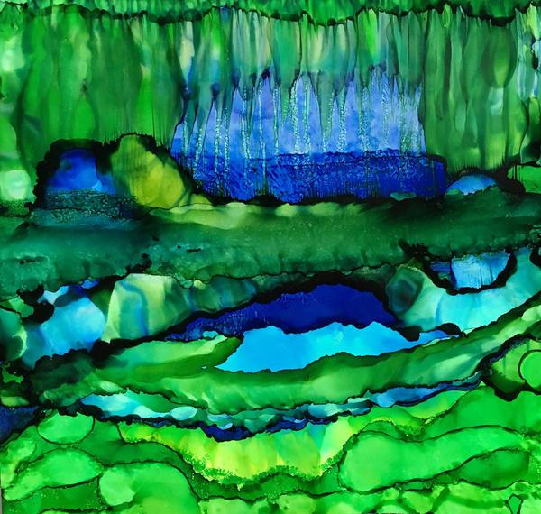 Layers With Flora Art | Sandy Smith Gerding Artwork