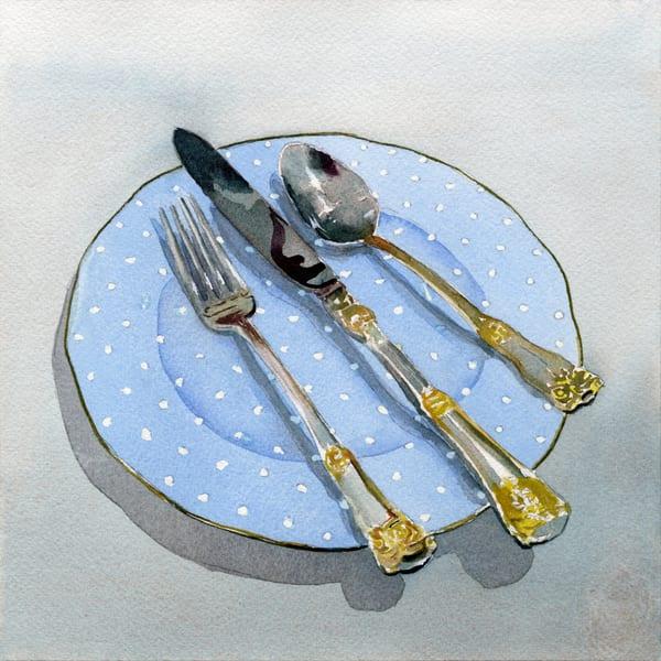 Knife Fork And Spoon Art | Machalarts Watercolor Studio