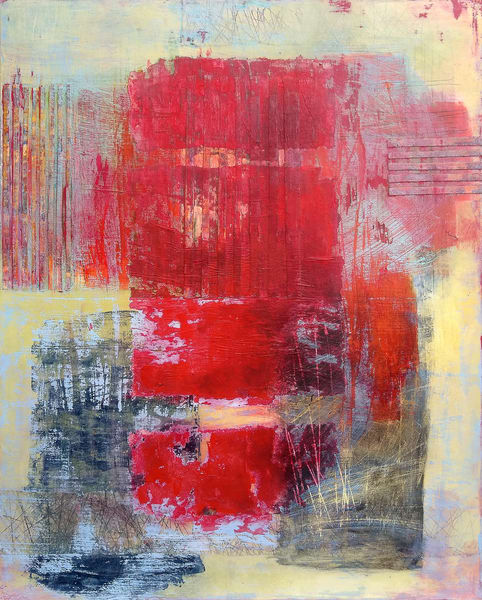 Red Ticket - Original Abstract Painting | Cynthia Coldren Fine Art