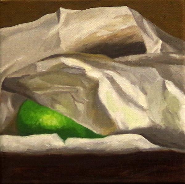 Lime In Hiding Art | Helen Vaughn Fine Art