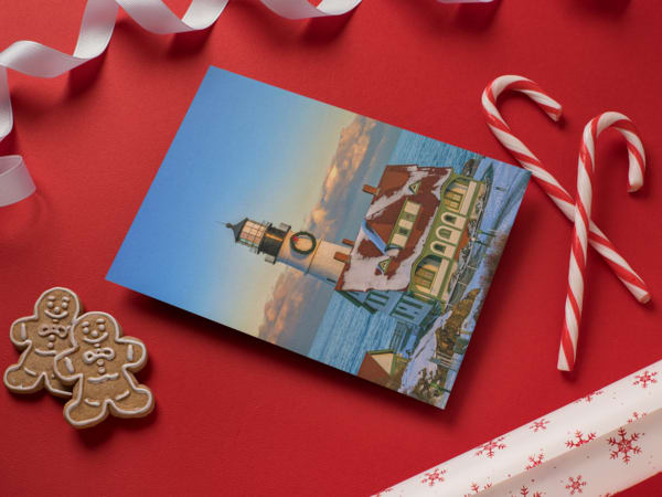 Winter Afternoon at Portland Head Light Greeting Card | Shop Photography by Rick Berk