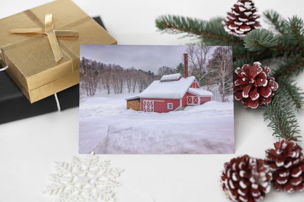 Winter at the Maple Sugar Shack Greeting Card | Shop Photography by Rick Berk