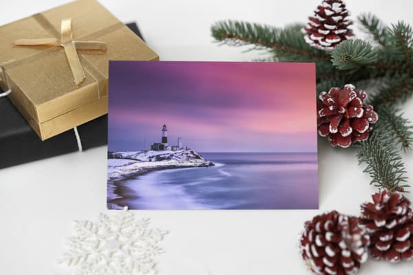 Winter's Glow at Montauk Point Greeting Card | Shop Photography by Rick Berk