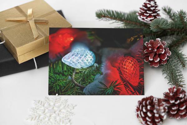 Christmas Lights Glowing Bright Greeting Card | Shop Photography by Rick Berk
