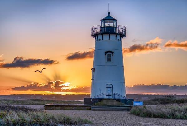Edgartown Light Fall Morning Art | Michael Blanchard Inspirational Photography - Crossroads Gallery