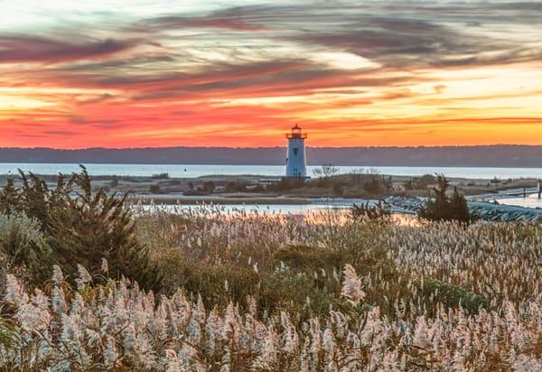 Edgartown Light Fall Reeds Art | Michael Blanchard Inspirational Photography - Crossroads Gallery