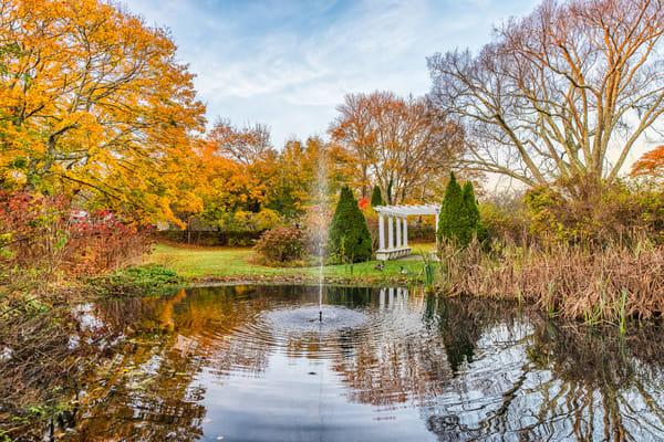 Edgartown Fall Fountain Art | Michael Blanchard Inspirational Photography - Crossroads Gallery
